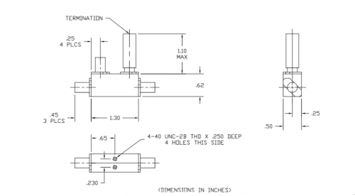 Directional Coupler 110067006 Outline Drawing