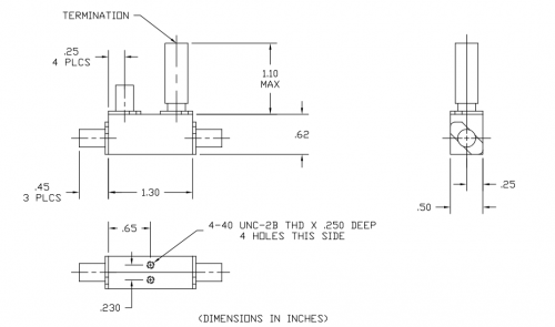 Directional Coupler 110067016 Outline Drawing