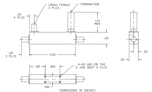 Directional Coupler 101065013 Outline Drawing