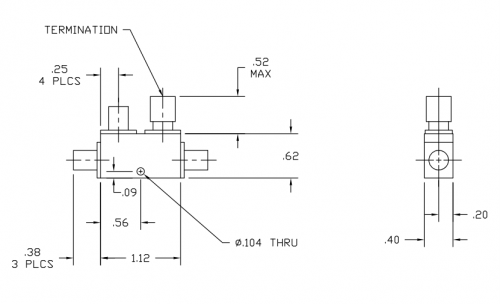 Directional Coupler 110050020 Outline Drawing
