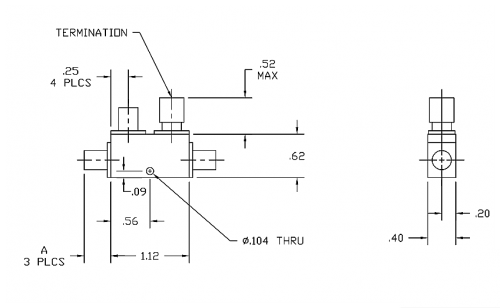 Directional Coupler 195010 Outline Drawing