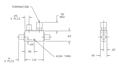 Directional Coupler 265020 Outline Drawing