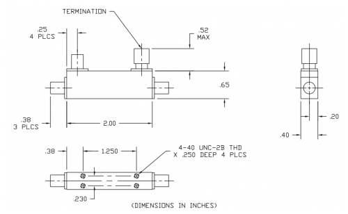 Directional Coupler 101040010 Outline Drawing