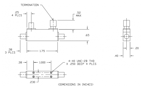 Directional Coupler 102046013 Outline Drawing