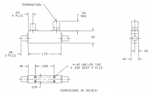 Directional Coupler 102040010 Outline Drawing