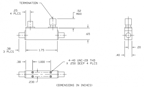 Directional Coupler 102040013 Outline Drawing