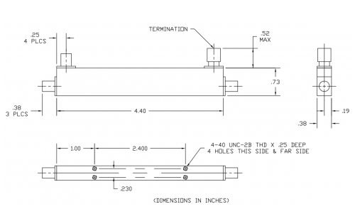 Directional Coupler 152610 Outline Drawing