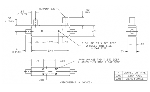 2616 Directional Coupler - KRYTAR on and gate schematic, phase shifter schematic, receiver schematic, balun schematic, switch schematic, capacitor schematic, constant current source schematic, rf probe schematic, nand gate schematic, multiplexer schematic, digital multimeter schematic, isolation transformer schematic, spectrum analyzer schematic, diode schematic, voltage divider schematic,