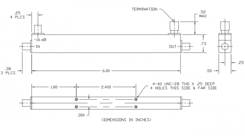 Directional Coupler 100308030 Outline Drawing