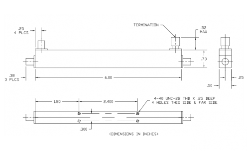 Directional Coupler 100312416 Outline Drawing