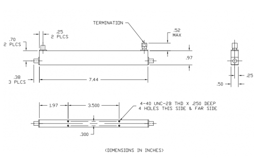Directional Coupler 100404020 Outline Drawing