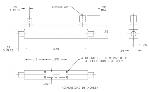 Directional Coupler 101004006 Outline Drawing