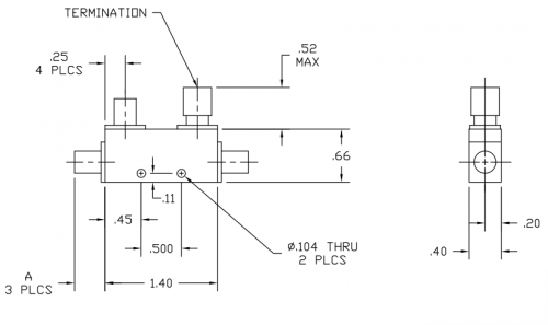 Directional Coupler 120720 Outline Drawing