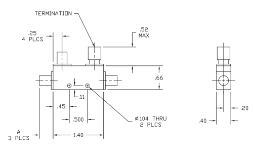 Directional Coupler 181206 Outline Drawing