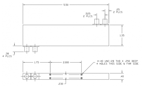 4010124 180 Deg Hybrid Coupler Outline Drawing