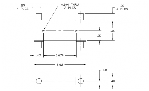 3014265 90 Deg Hybrid Coupler Outline Drawing