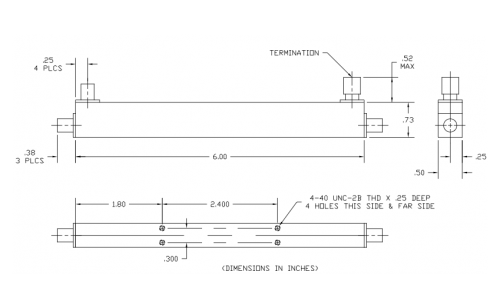Directional Coupler 100318006 Outline Drawing