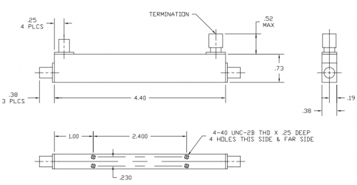 Directional Coupler 152606 Outline Drawing