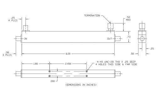 Directional Coupler 100308020 Outline Drawing