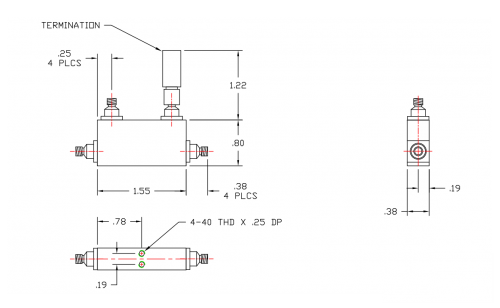 Directional Coupler 1500110010 Outline Drawing
