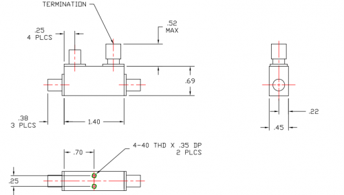 Directional Coupler 106040020 Outline Drawing