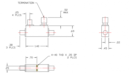 Directional Coupler 106040030 Outline Drawing