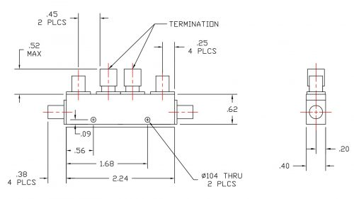 Dual Directional Coupler 526550010 Outline Drawing